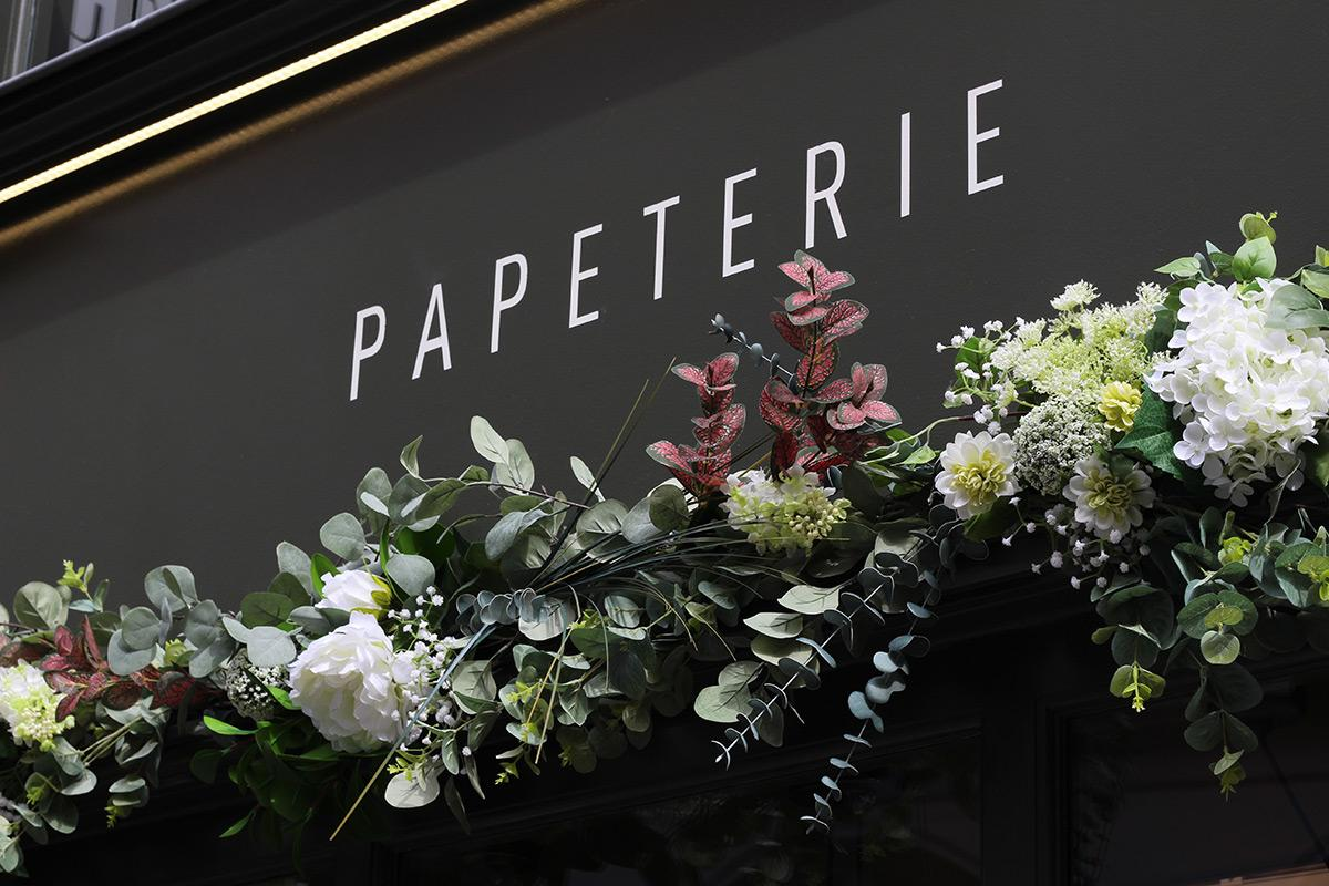 Fleurs vitrine Rennes